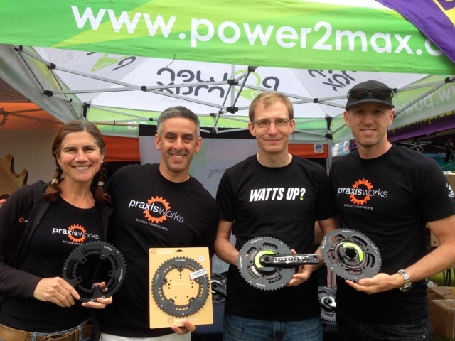 Michael from Power2Max North America and their Praxis spec'd power meters. width=