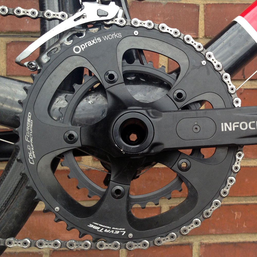Praxis-Works_cold-forged-chainrings_Road-Compact_50-34_on-Cervelo